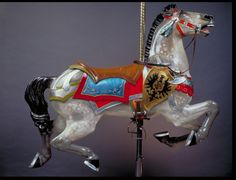 This 'shield horse' is the lead horse on Cafesjian's Carousel, St. Paul, MN