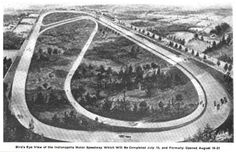 Indianapolis Motor Speedway before the grand opening - June 1909 / The Indianapolis Motor Speedway, located in Speedway, Indiana (an enclave suburb of Indianapolis) in the United States, is the home of the Indianapolis 500 and the Brickyard 400