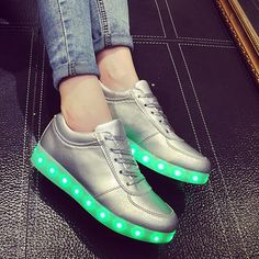 Good USB Charger LED Light Lace Up shoes Casual Shoes Luminous VOGUE Sneaker | eBay