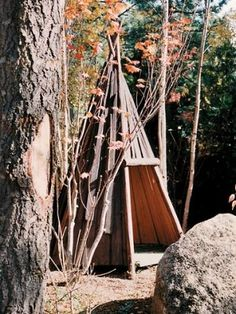 Beautiful tipi playhouse by Barbara Butler. Looks like it wouldn't be too difficult to DIY.