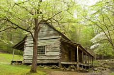 Beautiful historic cabin in the Smoky Mountains