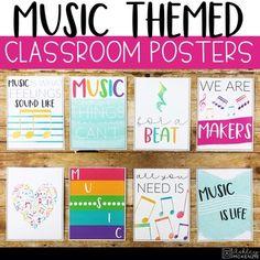 by Ashley McKenzie Music Bulletin Boards, Winter Bulletin Boards, Preschool Bulletin Boards, Music Classroom Posters, Classroom Decor, Music Posters, Ashley Mckenzie, Elementary Music, Amigurumi