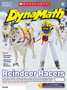 #Calculate how fast these #reindeer racers are going in #Finland! #DynaMath #ElementaryMath