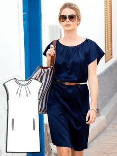 La combinación perfecta entre estilo y diseño lo tiene este vestido. #diy #costura #vestido