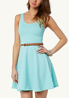 image of Polka Dot Skater Dress Cute Dresses, Cute Outfits, Summer Dresses, Plain Dress, Skater Dress, Polka Dots, Two Piece Skirt Set, My Style, Clothes