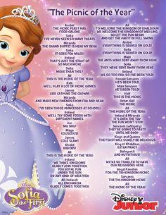 Princess Sofia the First Blue Ribbon Bunny Song Lyrics Disney Junior ♡ Disney ♡ Princess Sofia Birthday, Princess Sofia The First, My Princess, Princess Party, Princess Elizabeth, Princess Songs, Disney Princess, One Song Lyrics, Song One
