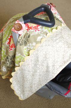 NEW Girl's Car Seat Cover/Tent/Canopy Fresh by chloejanehandmade, $45.00