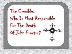 This Omega English product contains 2 differentiated worksheets that focus on who is most responsible for the death of John Proctor. Students create an argument, use evidence from the text to support their argument, and analyze the evidence they selected.