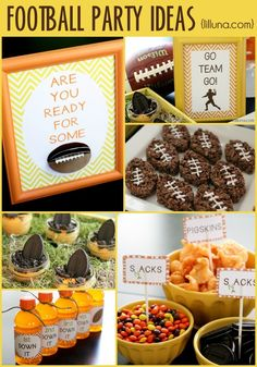 Football Party Ideas { lilluna.com } #football