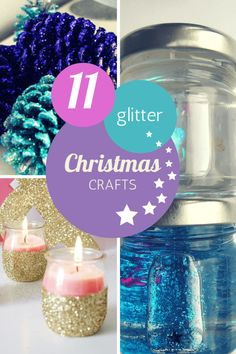 11 pretty Christmas glitter crafts for kids