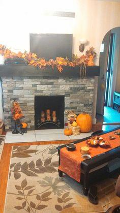 My living room Fall decor 2013