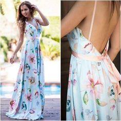 Φόρεμα maxi από ύφασμα κρεπ Dresses, Fashion, Vestidos, Moda, Fashion Styles, Dress, Fashion Illustrations, Gown, Outfits
