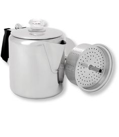 Glacier Stainless-Steel Percolator, Six-Cup: Cookware   Free Shipping at L.L.Bean