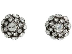 Kate Spade New York Putting On The Ritz Antique Stud Earrings Clear/Antique Silver - Zappos Couture