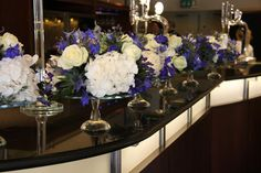 Flower Design Events: Classic Deep Blue & Ivory Wedding Day for Chris & Claire At The Grand Hotel St Annes