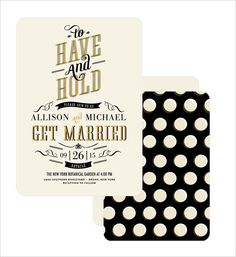 retro wedding invite