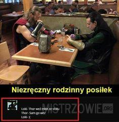 wszystkie memy z neta :v # Humor # amreading # books # wattpad Loki Thor, Marvel Dc Comics, Marvel Avengers, Wtf Funny, Funny Jokes, Polish Memes, Weekend Humor, Weird Stories, Marvel Memes