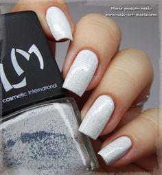 LM Cosmetic Azul Cristal #marienailart #nailart #whitepolish #cutenails - bellashoot.com