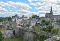 Dinan - medieval city in France