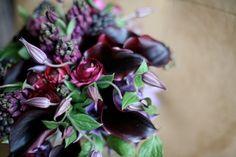 Plum and sage flower arrangement