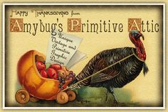 Primitive Thanksgiving Turkey design by Amybug's Attic, unique vintage and primitive graphic design ~ www.amybug.com ~ eBay auction templates, Facebook and Etsy banners, picture trail templates, blog templates, website graphics, and more! Designs for all seasons,  including fall / autumn, halloween, thanksgiving, winter, Christmas, Valentine's day,  spring / summer, patriotic / Americana, Easter, St. Patrick's day, and of course, designs for everyday :)