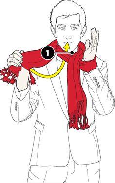Pretzel knot scarf tying