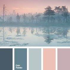It is appropriate to apply this colour palette for a room decorated in chalet style somewhere in the mountains, because it has collected a cool hues that w. (color themes for wedding gray) Colour Pallette, Color Palate, Colour Schemes, Color Combos, Color Azul, Winter Colour Palette, Basement Color Schemes, Gold Colour, Paint Schemes