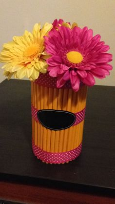 Pencil vase I created for my cooperating teacher