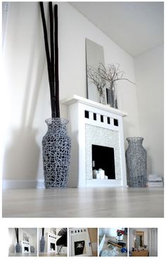 Faux Fireplace - This looks like a cool project I am dying to try. Wife is not so thrilled! But  I love fireplaces and this one looks classy, even if it is fake.