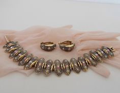 Vintage Signed Judy Lee Bracelet and Earrings Set by DakotaMemories on Etsy https://www.etsy.com/listing/204832077/vintage-signed-judy-lee-bracelet-and