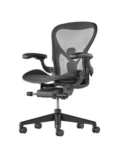 Best for comfort and personalisation... The Herman Miller Aeron Office Chair is the daddy of office chairs. Award winning ergonomic design, fully adjustable to your exact bum and back shape. It's not going to blend seamlessly into a living area or bedroom office, but in a seperate office it does have a highly functional beauty and it is available in a range of colours (well, not colours exactly, but several shades of grey). Your back and hips will thank you... John Lewis, from £1,099