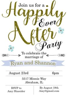 eloping party invitations Happily Ever After sar2201