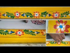 Gadapa muggulu live Designing//new design of gadapa muggulu Rangoli Border Designs, Small Rangoli Design, Colorful Rangoli Designs, Rangoli Borders, Pooja Room Design, Wall Painting Decor, Plate Wall Decor, Muggulu Design, Mother Art