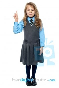 """""""I Know The Answer. School Girl Raising Hand"""" by stockimages Back To School Images, Going Back To School, School Uniform Fashion, School Uniforms, Hand Photo, Suits, This Or That Questions, Female, Lord Mahadev"""