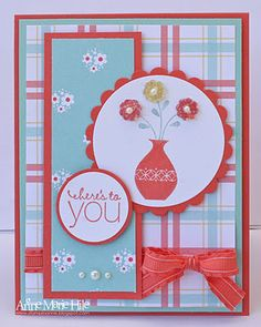 I love new ideas for using Stampin Up Button Buddies. Also love the bright Springy colors.