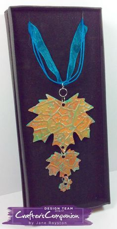 Necklace made using Crafter's Companion Die'sire Mixed Media Dies - Maple Leaves. Designed by Jane Royston. #crafterscompanion