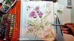 Distel: Ein wenig kratzbürstig aber dafür zäh und genügsam (also fast ein Selbstportrait). Dieses Bild hier von der Nationalblume Schottlands ist zu haben wenn es fertig ist es wird dann im Original bei mir in den Shops wandklex.etsy.com und wandklex.dawanda.com bestellt werden können .  Material : Schmincke Künstlerfarben Horadam auf  @hahnemuehle Echtbütten 200g matt  @wandklex Kunstatelier.  #distel #thistle #lila  #wandklex #malerei #love #feelings  #handgemalt #aquarell #hahnemühle…