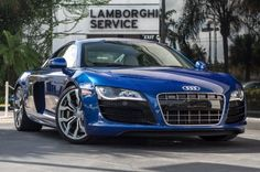 Sexy Blue Audi R8 Coupe. You MUST check this out... #spon