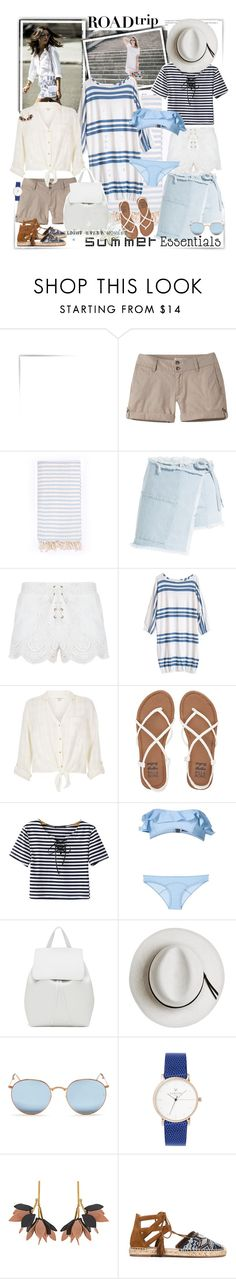 """""""Summer Road Trip Essentials"""" by ellie366 ❤ liked on Polyvore featuring Mountain Khakis, Turkish-T, Sandy Liang, MINKPINK, River Island, Billabong, Chicnova Fashion, Lisa Marie Fernandez, Mansur Gavriel and Calypso Private Label"""