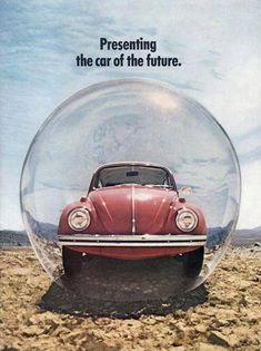 VW Volkswagen Beetle Car Of The Future 1970 | Vintage Cars Advertisement. #VolkswagonClassiccars