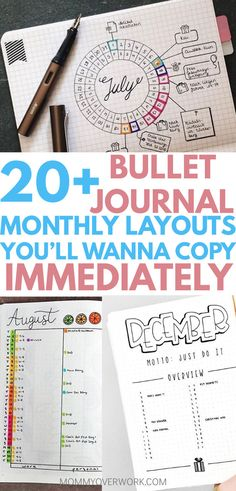 Best bullet journal monthly layouts and spreads of the year. find at a glance calendar overview and goals trackers. design ideas from easy minimalist cover Monthly Bullet Journal Layout, Bullet Journal September, Bullet Journal Quotes, Bullet Journal 2019, Bullet Journal Junkies, Bullet Journal Themes, Bullet Journal Inspiration, Bullet Journals, Journal Ideas