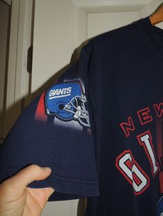 9cccf94e6e9 Vintage 90s New York Giants T-Shirt NFL Navy Pro Player Size L