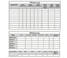 Fitness Log Sheets and more... meal log sheets, workout sheets, ...  www.makeoverfitness.com
