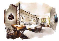64 Ideas For Exterior Perspective Sketch Interior Design Croquis Architecture, Architecture Design, Interior Design Renderings, Drawing Interior, Interior Rendering, Interior Sketch, Interior And Exterior, Cafe Exterior, Bungalow Exterior