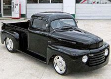 Read about this 1949 Ford with Suicide Doors and a PPG Black Paint Job, check it out only at Custom Classic Trucks Magazine. Lifted Chevy Trucks, Ford Pickup Trucks, Truck Drivers, Rc Trucks, Chevy Pickups, Lifted Ford, Semi Trucks, Classic Trucks Magazine, Classic Pickup Trucks