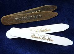 Collar Stays Brass and Plastic