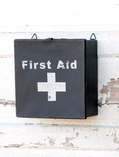 Vintage Style First Aid Box with Cross