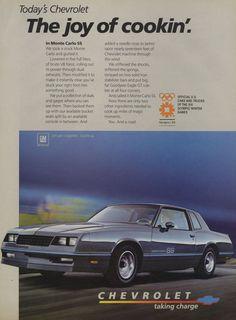 1984 Chevrolet Monte Carlo SS Ad Vintage Chevy by AdVintageCom