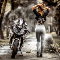 Browse our large collection of motorcycle gear! Whether you are looking for riding gloves , helmets ,bike covers, or full gear we have it all! Dirt Bike Girl, Lady Biker, Biker Girl, Motard Sexy, Motos Honda, Auto Motor Sport, Motorbike Girl, Motorcycle Outfit, Hot Bikes