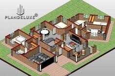 5 Bedroom Single Story House floor Plan Design_Plandeluxe__1 story house design_14